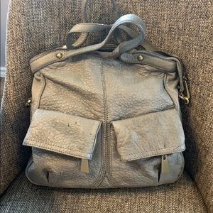 Cynthia Rowley Grey Pebble Leather Big Bag